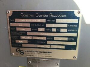 Constant Current Regulator 7 5 Kw 115 170 Volts General Signal Hevi duty