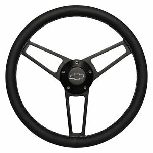 For Chevy Camaro 69 94 Steering Wheel 3 spoke Billet Series Aluminum Black
