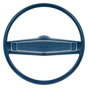 For Chevy Camaro 69 Oer 2 spoke Steering Wheel Kit W Dark Blue Grip