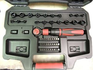 Pre owned Craftsman 3 8 53 Piece Sae Socket And Ratchet Set In Case