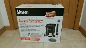 New Simer Sump Pump Emergency Battery Backup System W text Email Alerts A5300