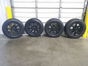 2014 Toyota Tundra Set Of 4 20 Black T Force Wheels And Tires Oem Lkq