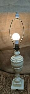 Vintage Neoclassical Italian White Alabaster Marble Urn Lamp Early 20th Century