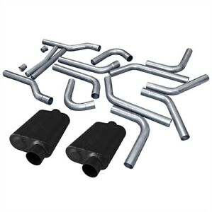 Flowmaster 815937k U fit Dual Exhaust Pipe Kit 3 Tubing Universal 16 piece Set 4