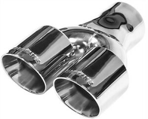 Flowmaster 15402 Polished 304s Stainless Steel Dual Exhaust Tip Weld On Angle Cu