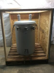 Solomon Corporation 75kva Pole Mount Transformer Hv 7200 12470y Lv 120 240