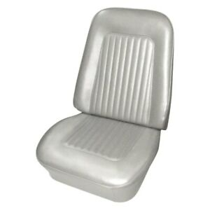 For Chevy Camaro 67 68 Seat Cover Front White Madrid Grain Vinyl Bucket Standard