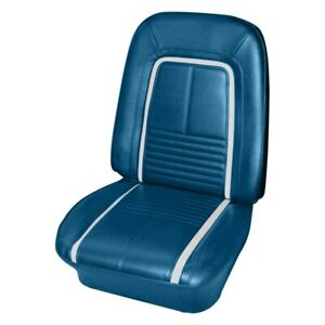 For Chevy Camaro 67 Seat Cover Front Bright Blue Madrid Grain Vinyl Bucket