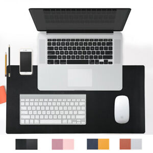 31 5x15 7 Pu Leather Desk Pad Waterproof Laptop Mat Desk Mouse Pad Black Large