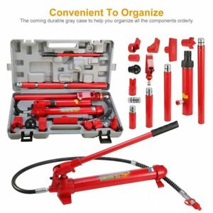 10 Ton Hydraulic Jack Air Pump Lift Ram Repair Tool Kit Set Us