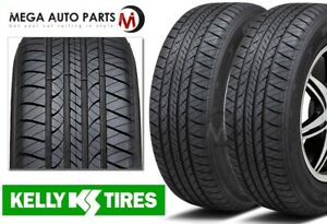 2 New Kelly Edge A S 215 55r17 94v Economical All Season Performance Tires
