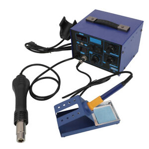 2in1 862d Smd Soldering Iron Hot Air Rework Station Constant temperature 110v