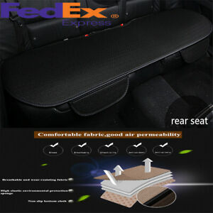 Car Black Ice Silk Seat Covers Rear Seat Cushion Soft Breathable Cool For Summer