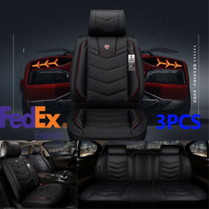 Full Surrounded Car Seat Covers Cushion Pu Leather Auto Interior For 5 seats Usa