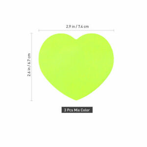 New 10pcs Sticky Pads Self adhesive Portable Cute Green