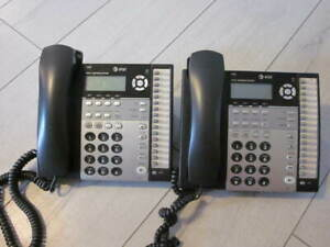 At t Model 1080 4 line Small Business System Phone Handset Lot Of 2