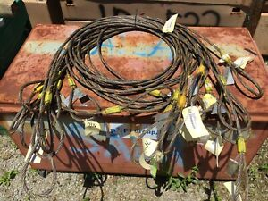 10 Qc21 Wire Rope 7 16 X 12 Choker Eye Sling Winch Lines Tow Hoist