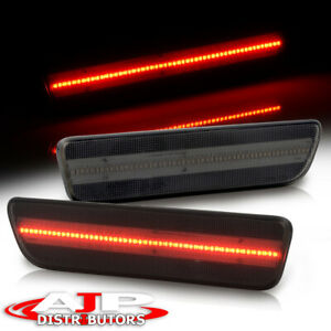 Red Led Smoke Lens Driving Rear Bumper Side Markers Lights For 2005 2009 Mustang