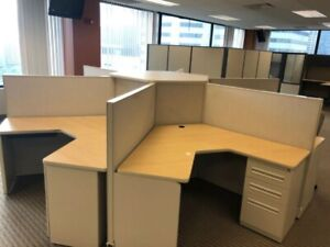 Pod Of 6 Cubicles By Haworth Office Furniture 48 h