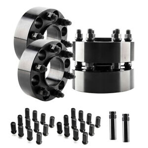 4 2 Hubcentric 6x135 Wheel Adapters With 24 Lug Nuts 14x2 For Lincoln Mark Lt