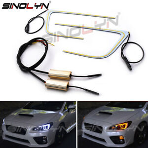Led C ring Angel Eyes Dual color Signal Light For Subaru Wrx Headlight Retrofit