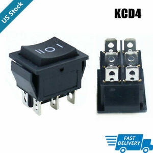Kcd4 Black Rocker Switch Power Switch On off on 6 Pins 16a 250vac 20a 125vac