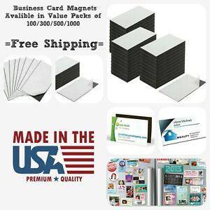 Business Card Magnets Self Adhesive Peel And Stick Promotional Magnets 30 Mil