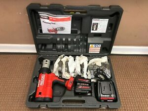 Ridgid Rp 340 Cordless Press Tool Kit With 1 2 2 Propress Jaws New No Box