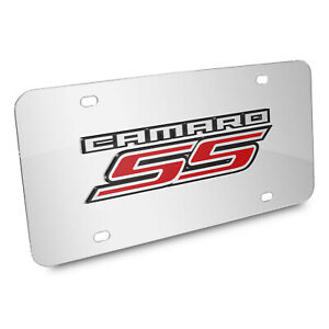 Chevrolet Camaro Ss 2010 Mirror Chrome Metal License Plate