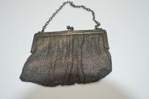 Tiffany Co Sterling Silver Chatelaine Mesh Purse Antique Victorian France
