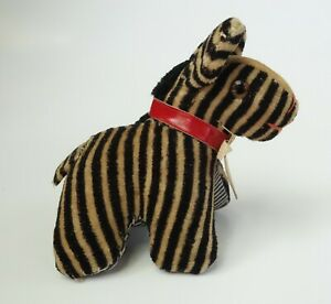 Vintage Sewing Tape Measure Pin Cushion Velvet Zebra Animal Germany Antique