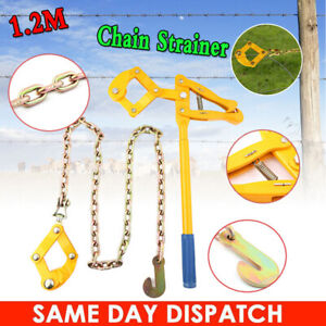 1 2m 4ft Wire Fence Strainer Plain Barbed Chain Fencing Repair Tool Heavy Duty