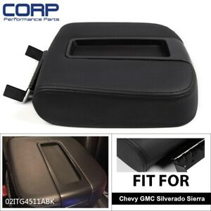 Front Center Console Armrest Lid Assembly For Chevy Gmc Silverado Sierra Black