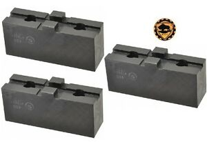 Bison Lathe Chuck Soft Top Jaws For Scroll Chuck 5in 3 jaw 3 Piece Set 7 884 305
