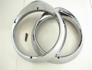 1956 Dodge Headlight Rings Bezel Coronet Royal Pair