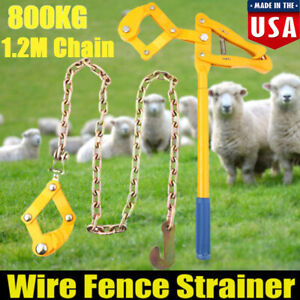 Wire Fence Strainer Plain 1 2m 4ft Chain Fencing Repair Tool Gripple Heavy Duty