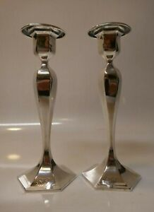 Meriden Brittania Co Weighted Sterling Silver Candle Sticks Model Number 420