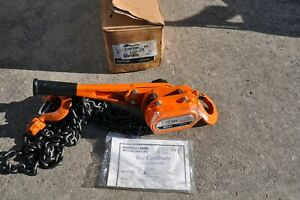 Ingersoll Rand Roughneck L5h300 15 Lever Chain Hoist 1 1 2 Ton New