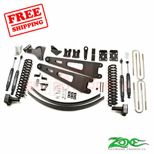 Zone Offroad 6 Lift Kit For 2011 16 Ford F250 F350 4wd Diesel Overload Springs