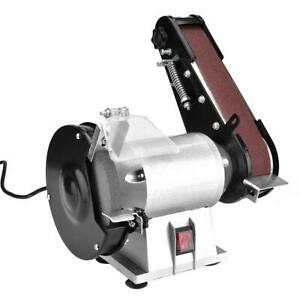 Combination Bench Grinder Belt Sander Grinding Sanding Machine 110v 250w New