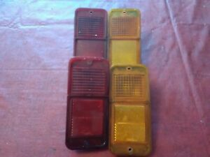 68 69 70 71 72 Chevy Gmc Pu Pickup Lighted Side Marker Lights C10 C20 Amber Red