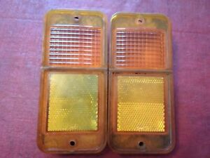 68 69 70 71 72 Chevy Gmc Pu Pickup Unlighted Side Marker Lights C10 C20 Amber 1