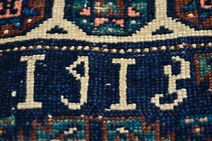 Antique Inscribed Dated 1915 Armenian Caucasian Or East Anatolian Rug