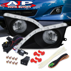 Clear Drl Led Driving Front Bumper Fog Lights W Switch For 2009 2010 Corolla