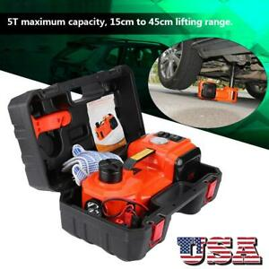 5ton 12v Dc Automotive Car Electric Hydraulic Floor Jack Lift Garage Tool Us New