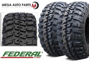 2 Federal Couragia M T 245 75 16 120 116q Owl 10ply All Terrain Mud Truck Tires