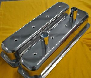Sbc Tall Valve Covers Circle Track Aluminum Vortec 350 Small Block Chevy Dirt