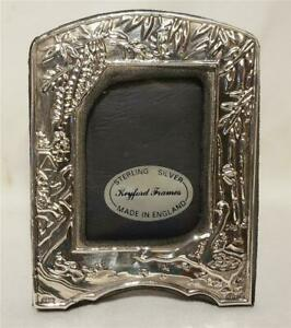 Keyford Sterling Silver Picture Frame Made In England Bamboo Birds Design