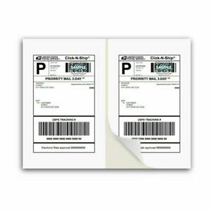 Packzon Shipping Labels With Self Adhesive Square Corner For Laser Inkjet Pr