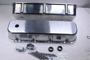 58 86 Bbc Chevy 454 396 427 Smooth Top Polished Aluminum Tall Valve Covers